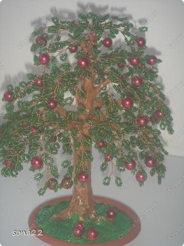 Поделки из бисера деревья
