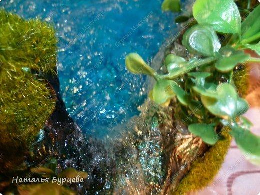 Мастер-класс Продолжение темы имитация воды  Создаем волны  фото 31