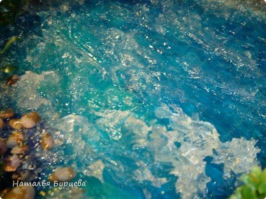 Мастер-класс Продолжение темы имитация воды  Создаем волны  фото 4