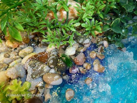 Мастер-класс Продолжение темы имитация воды  Создаем волны  фото 5