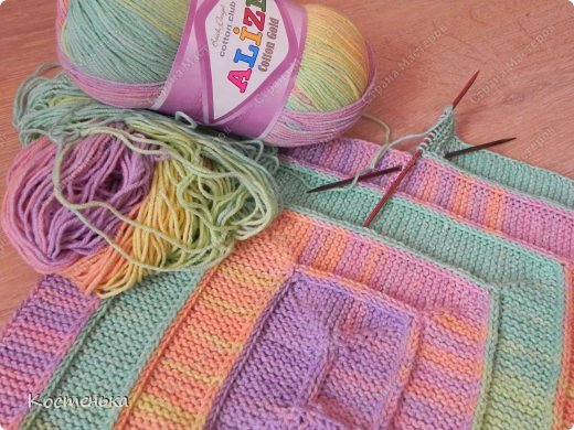 Какую пряжу лучше использовать для вязания пледа малышу 28