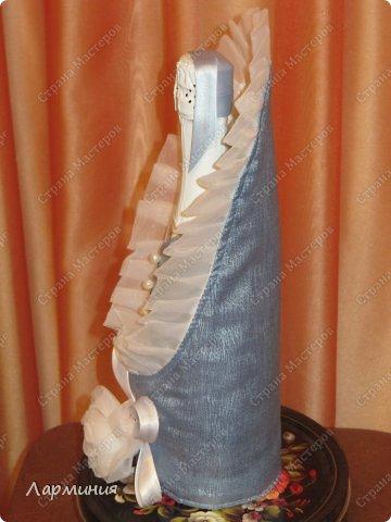 Декор предметов Упаковка День рождения Свадьба Шитьё Сшитый НОВОРОЖДЕННЫЙ Бутылки стеклянные Ленты Ткань фото 4