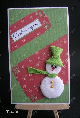 Всем доброго времени суток! Очередная порция открыток - сегодня со снеговиками.  фото 4