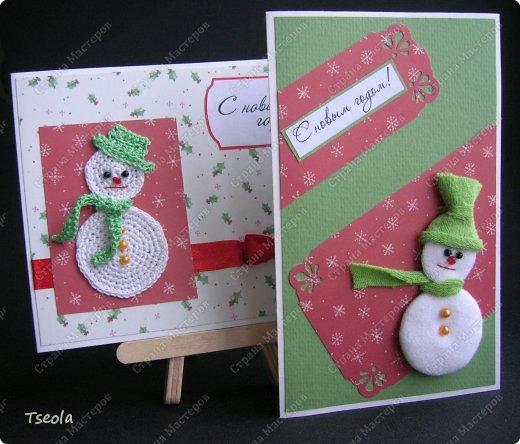Всем доброго времени суток! Очередная порция открыток - сегодня со снеговиками.  фото 1