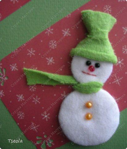 Снеговик из ватных дисков объемный своими руками фото