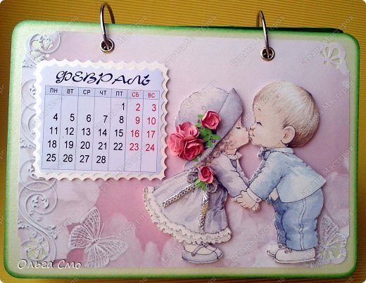 Настольный календарь с фотографиями своими руками