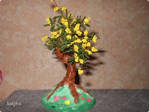 Плетение - Денежное деревомимозацветочки яблоняИЗ бисера.