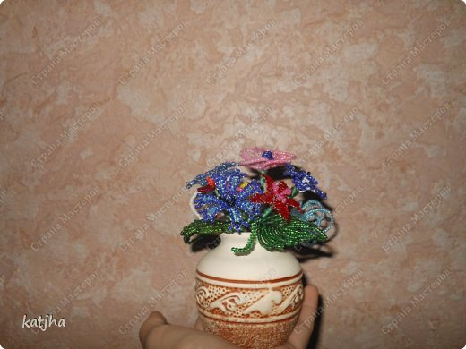 Поделка изделие Плетение Денежное дерево мимоза цветочки яблоня ИЗ бисера Бисер фото 2.