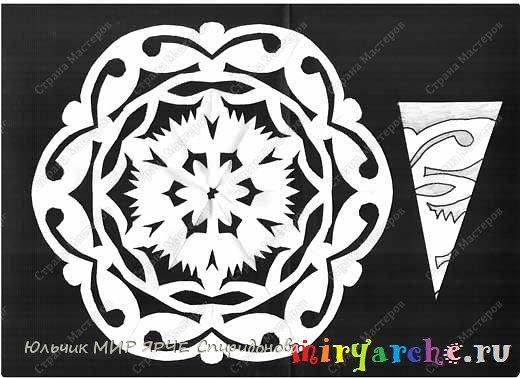 Снежинки из бумаги схемы бумага фото 2