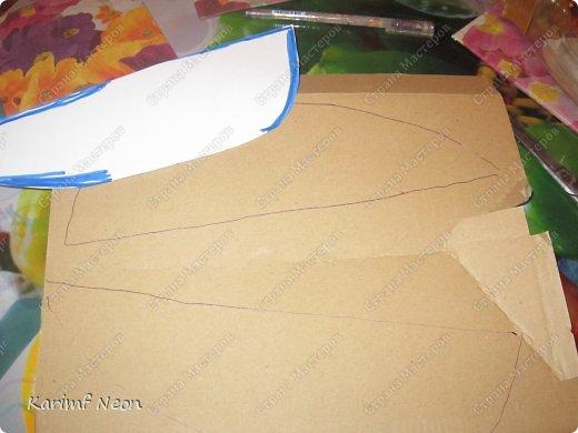 Я решил, что Лампа Алладина очень  нужна перед Новым Годом!! Как и в предыдущей моей записи, всё делалось из картона и целлофановых пакетов.  фото 3