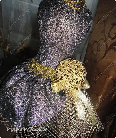 Мастер-класс Поделка изделие Шитьё манекен -игольница Кружево Тесьма шнур Ткань фото 16