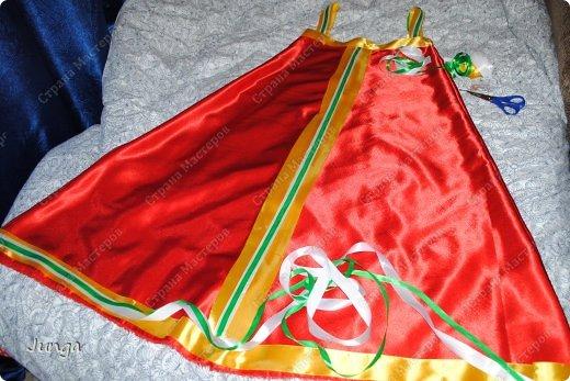 Гардероб Мастер-класс Новый год Шитьё Русский народный сарафан за пару часов Ленты Ткань фото