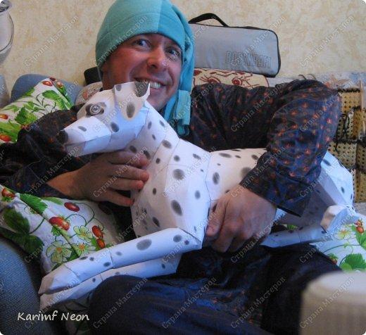 Я решил, что перед моим камином должна сидеть собака.  На моём любимом сайте Canon, скачал, такого вот далматинца. На сайте все животные маленькие. С помощью спец. программки увеличил изображение. И вот теперь, у меня большая собака (77 см).  фото 3