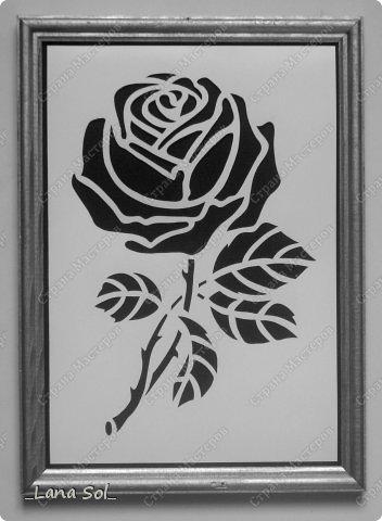 Картина панно рисунок Вырезание Роза Бумага фото 1