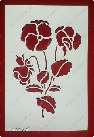 Картина панно рисунок Вырезание Маки Бумага фото 1