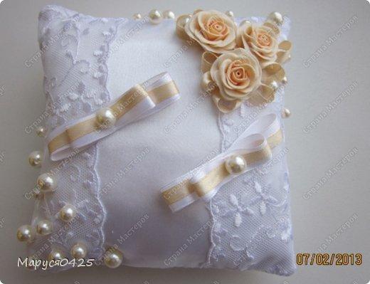 Как сделать своими руками свадебную подушечку