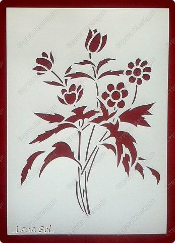 Картина панно рисунок Вырезание Весенний букет Бумага фото 1