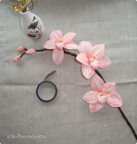 Орхидея сделать своими руками из ткани