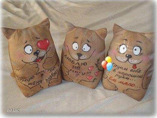 Мягкая игрушка тильда кот Выкройка и мастер класс / кофейный кот фото