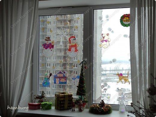 Витраж - Окна к Новому году и Рождеству.