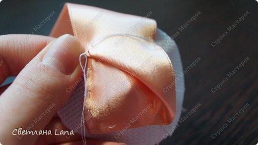 Мастер-класс Моделирование Шитьё Мастер класс Роза из ленты Канва Ленты фото 10