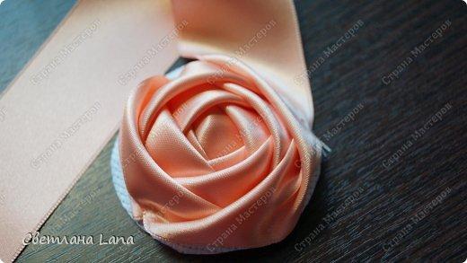Мастер-класс Моделирование Шитьё Мастер класс Роза из ленты Канва Ленты фото 19