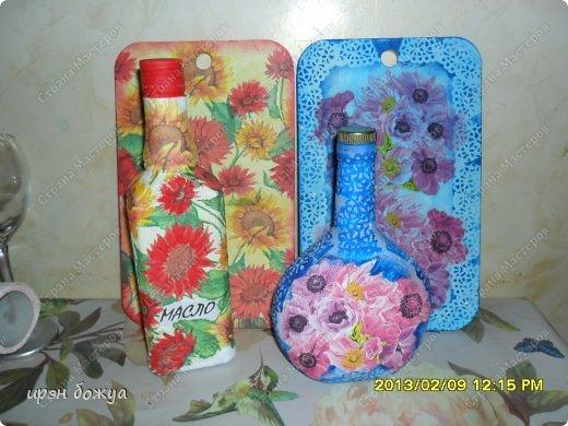 подарочные наборы к 8 марта(разделочная доска, бутылка для масла, маленькая для соуса или уксуса, баночки для специй или соли, лопатка) фото 2