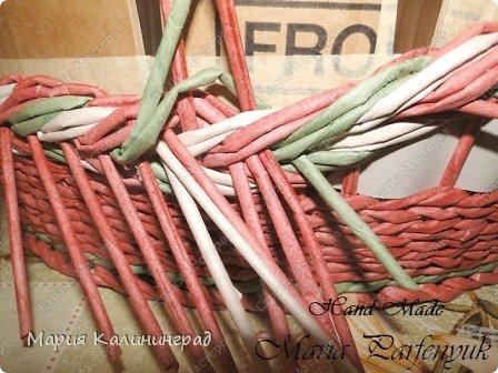 Мастер-класс Поделка изделие Плетение мк трёхцветной косы и пара плетушек Бумага газетная Трубочки бумажные фото 32