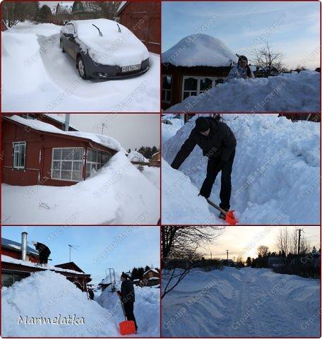Чистим с Чипкой снег( Ну кто чистит, а кто играет)) фото 3