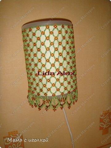 Декор предметов Бисероплетение Ночник для дочки Бисер фото 1.
