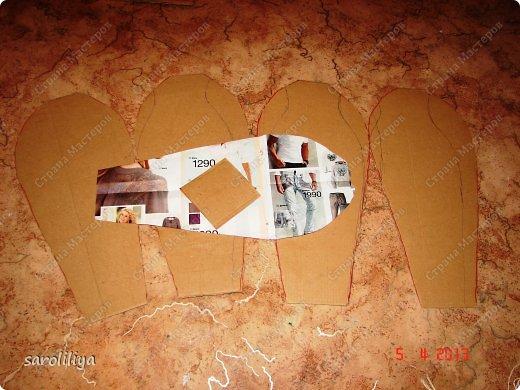 Мастер-класс Папье-маше Ваза 2 папье-маше Бумага Картон Клей Краска Нитки Салфетки фото 2