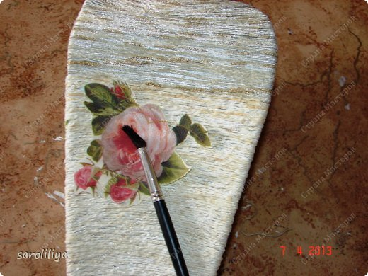 Мастер-класс Папье-маше Ваза 2 папье-маше Бумага Картон Клей Краска Нитки Салфетки фото 9