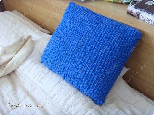 Вязаный чехол на подушку