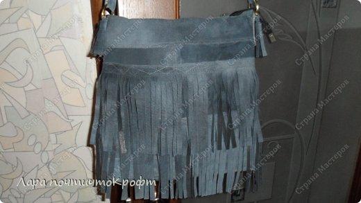 Поделка изделие Шитьё Кожаные сумочки с бахромой Кожа Ленты Ткань фото 9.
