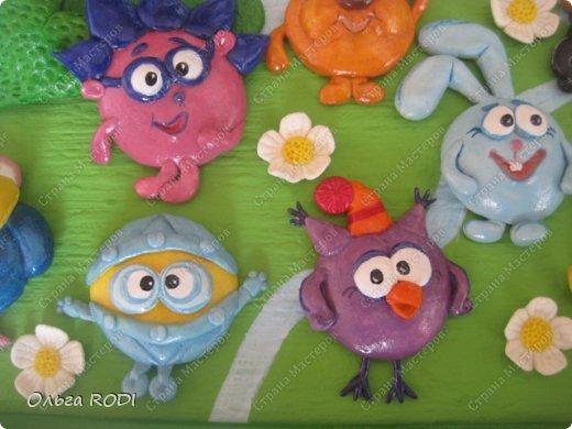 Всем, доброго времени суток! А я сегодня со смешариками! Картина из детской серии, делала на заказ в детскую комнату. смешарики лепились очень просто, так сказать взахлеб))