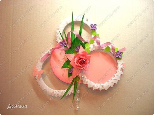 Поделка изделие Рама паспарту День рождения Свадьба Бумагопластика Квиллинг Оригами модульное Круглые рамочки Бумага Бумага гофрированная фото 5
