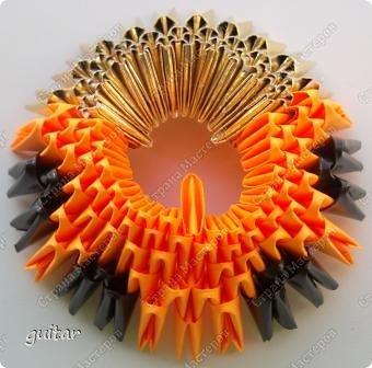Мастер-класс Поделка изделие День семьи Оригами китайское модульное Божьи коровки МК Бумага Картон Клей фото 7
