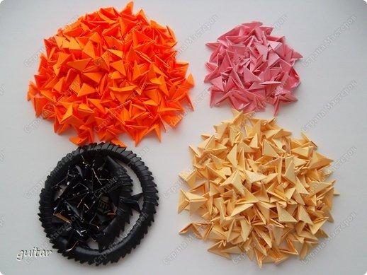 Мастер-класс Поделка изделие День семьи Оригами китайское модульное Божьи коровки МК Бумага Картон Клей фото 3