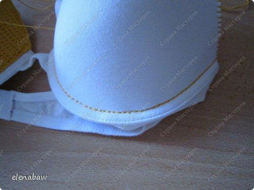 Гардероб Мастер-класс Вязание крючком Обвязка бюстгальтера крючком или верх для летнего платья Пряжа фото 6