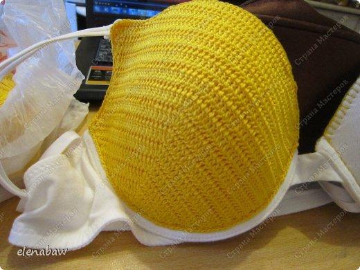 Гардероб Мастер-класс Вязание крючком Обвязка бюстгальтера крючком или верх для летнего платья Пряжа фото 8