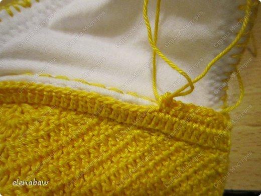 Гардероб Мастер-класс Вязание крючком Обвязка бюстгальтера крючком или верх для летнего платья Пряжа фото 11
