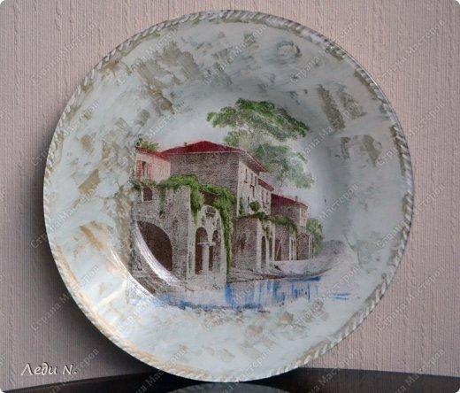 Декор предметов Декупаж Роспись Итальянская тарелочка+пояснения Краска Салфетки фото 1
