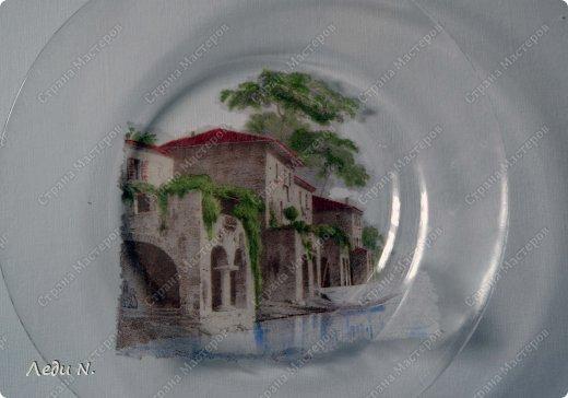 Декор предметов Декупаж Роспись Итальянская тарелочка+пояснения Краска Салфетки фото 3