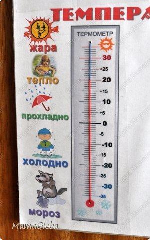 Приветствую на своей страничке! Хочу поделиться, какая метеостанция появилась у нас с ребенком. Выполнено всё на папке от цветного картона. фото 4