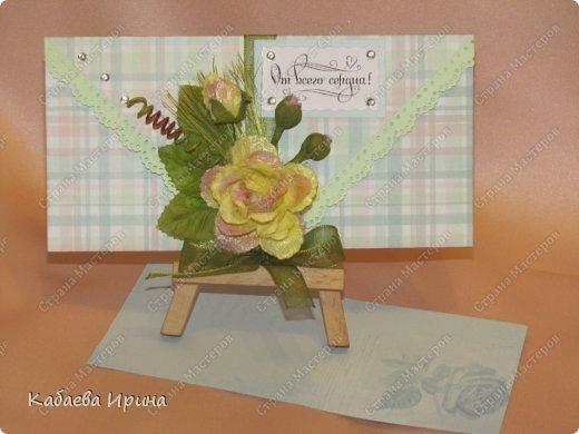 Денежные открытки с двумя карманами и листком - вкладышем для поздравления фото 11