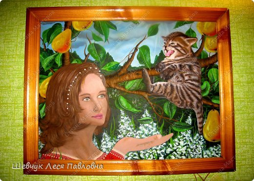Привет Всем!Хочу представить свои картины нарисованные за всю мою жизнь. Рисовала маслом. Эта картина была собрана из нескольких фото из журнала. фото 1