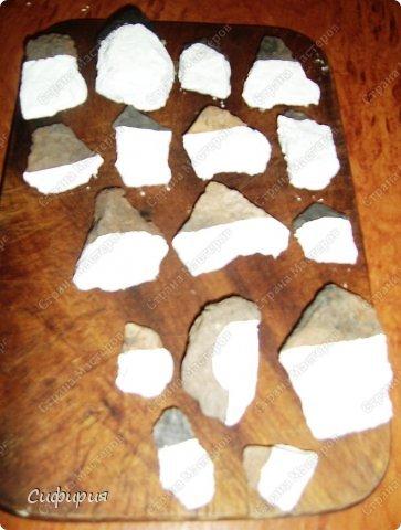 """Доброго вам дня!!! Сегодня хочу показать мое новое увлечение - панно из камней. А вдохновила меня замечательная художница Мишель Буфалини, наткнулась в Фэйсбуке на ее работы и была просто очарована как оживают камни в ее руках! Создались у меня вот таких две панношки """"День и ночь"""". Фотографировала этапы работы, покажу вам. фото 5"""