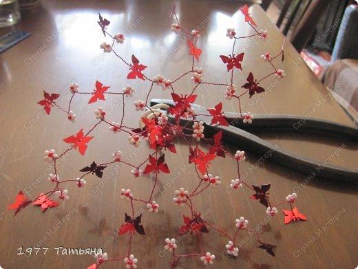 Добрый вечер, дорогие!  Вот и результат обещанного МК по цветочно-бабочковым деревцам.  Остальные деревца можно посмотреть тут: https://stranamasterov.ru/node/554779  и тут: https://stranamasterov.ru/node/594291  Приступаем! фото 14