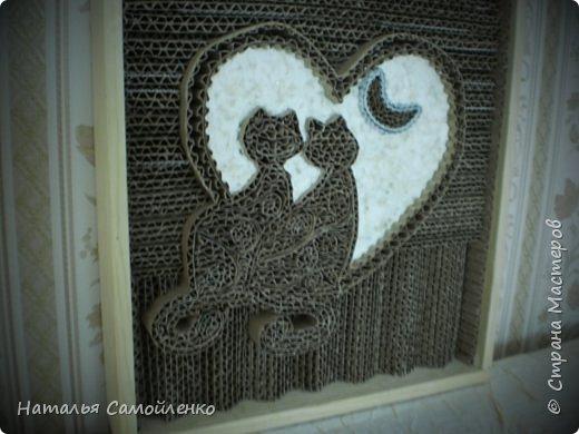 """Ну, как же пройти мимо гофрированного искусства от Марка Лангана!!!!???  http://rndnet.ru/part-photop/gofrirovannoe-iskusstvo-ot-mark-langan/ Решила попробовать!!!!  Итак, моё первое гофрированное искусство """" Любовь"""":-)  фото 3"""