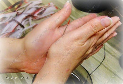 Картина панно рисунок Мастер-класс Поделка изделие День рождения Аппликация Волшебный саженец Картон Клей Краска Мешковина Салфетки фото 6